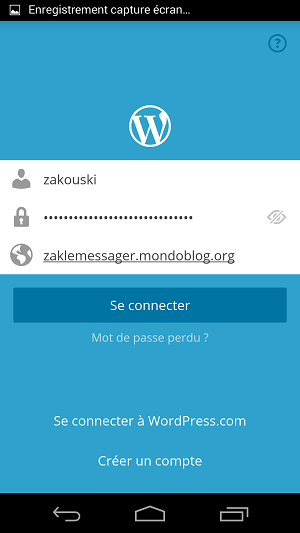 WordPress pour android