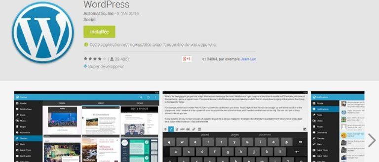 Article : Tutoriel : Comment gérer son blog WordPress depuis un mobile ?