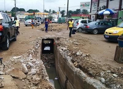Abidjan 9KM travaux de réouverture des canalisations crédit Zak Le Messager